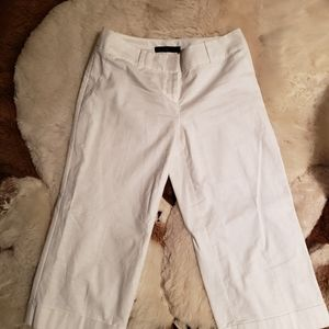 Brand New WOT The Limited Lined White Cuff Capris